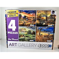 4)  LOT OF 4 FACTORY SEALED PUZZLES