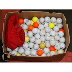 LARGE BOX OF RECLAIMED GOLF BALLS