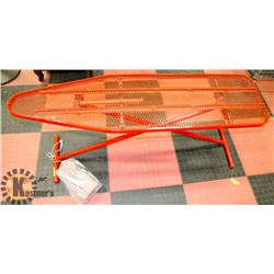IRONING BOARD WITH VINTAGE TRAVEL IRON IN