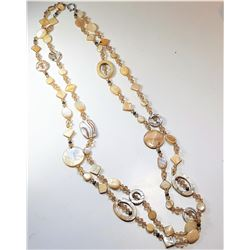 18)  DOUBLE STRAND CHAMPAGNE CRYSTAL