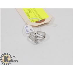 STERLING SILVER CZ RING SIZE 8.