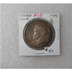 7)  CANADIAN KING GEORGE 1939 CANADIAN