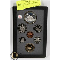 1989 PROOF CASED DOUBLE DOLLAR COIN SET