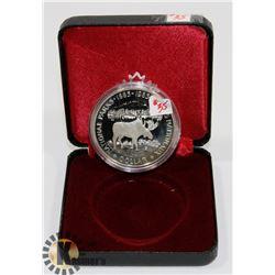 1985 CANADA  MOOSE $1 COIN