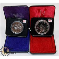 LOT OF 2 CANADA $1 COINS, 1974 WINNIPEG, 1976