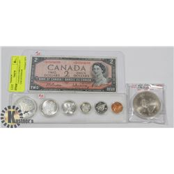 LOT OF CANADA CURRENCY-1977 25TH YEAR GOVERNOR