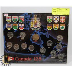 1992 CANADA 125 COIN SET