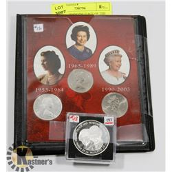 1953-2003 CHANGING FACE OF THE QUEEN COIN SET AND