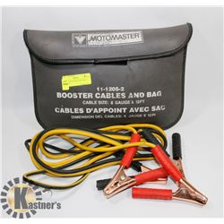 MOTOMASTER BOOSTER CABLES AND BAG
