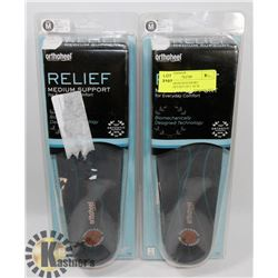 RELIEF MEDIUM SUPPORT ORTHOTICS SET OF 2  SZ M
