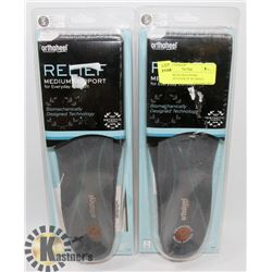 RELIEF MEDIUM SUPPORT ORTHOTICS PAIR OF SZ SMALL