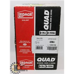 NEW CASE OF 12 LEPAGE QUAD SEALANT