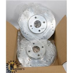 CROSS DRILLED BRAKE DISCS JBR1726XL AND