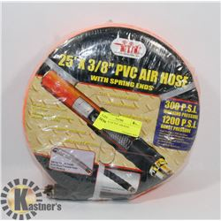 "NEW 25' X 3/8"" PVC AIR HOSE"