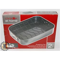 COOK AT HOME 2PC ROASTING PAN SET