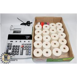 CANON CP1200D ADDING MACHINE WITH TAPE ROLLS &