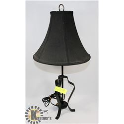 "METAL TABLE LAMP, 24"" TALL"