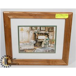 14 X 12 COUNTRY CHARM FRAMED PRINT