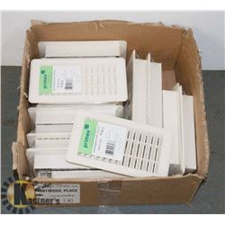"BOX OF 16 PC PRIMEX HEAT REGISTER 4"" X 8"""