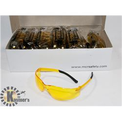 BOX OF 12 YELLOW SAFETY GLASSES