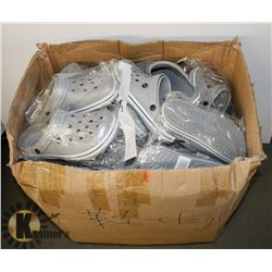 BOX OF GREY SANDALS