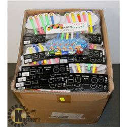 BOX OF PARTY NOISEMAKERS