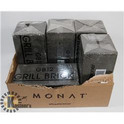 "FIVE LARGE GRILL BRICKS 3.5""X4""X8"" LAVA PUMICE"