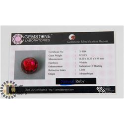 #45-RED RUBY GEMSTONE  8.35CT