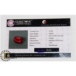 #43-RED RUBY GEMSTONE  6.40CT