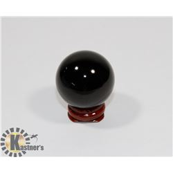 #53-NATURAL BLACK OBSIDIAN HEALING SPHERE BALL