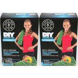 LOT OF TWO NEW! GOLDS GYM DIY WORK OUT DVD WITH