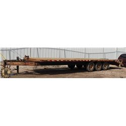 TRAILTECH 25' TRIAXLE FLAT DECK PINTLE TOW