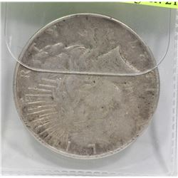 1927 US SILVER DOLLAR COIN.