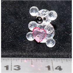SWAROVSKI CRYSTAL TEDDY BEAR WITH HEART