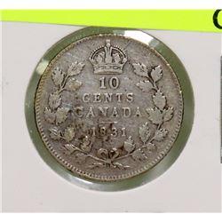 1931 GEORGE V 10 CENT