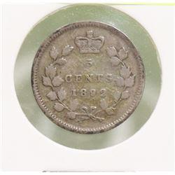 1892 QUEEN VICTORIA  5 CENT