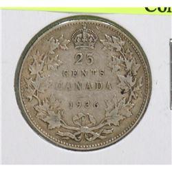 1936 GEORGE V  25 CENT