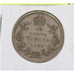 1936 GEORGE V 10 CENT