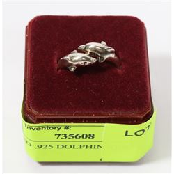 STAMPED .925 DOLPHIN RING