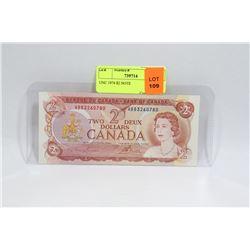 UNC 1974 $2 NOTE
