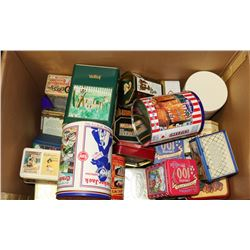 LOT OF 34 COLLECTOR TINS FROM ENGLAND, USA AND