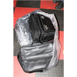 LOT OF 4 ASSORTED CARRYING BAGS.