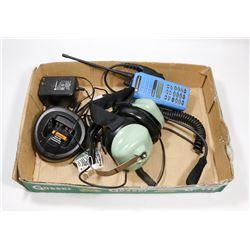 MOTOROLA MTX-4550 RADIO WITH DAVID CLARK HEADPHONE