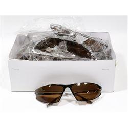 BOX OF BROWN DESIGNER SUNGLASSES