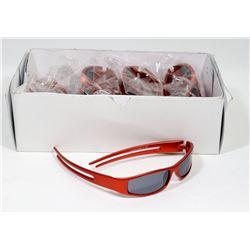 BOX OF RED SUNGLASSES