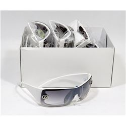 BOX OF WHITE SUNGLASSES