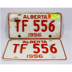 SET OF 1956 LICENSE PLATES