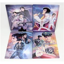 SET OF 4 CERAMIC ELVIS WALL PLAQUES WITH