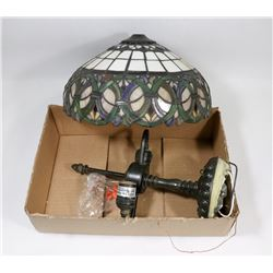 "LEADED TIFFANY STYLE CEILING LIGHT FIXTURE 12""."