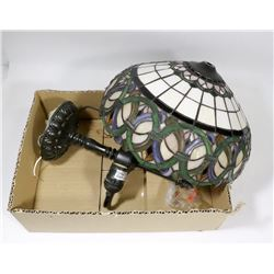 LEADED TIFFANY STYLE CEILING LIGHT FIXTURE 12""
